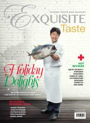 EXQUISITE TASTE Magazine Cover December–January 2018