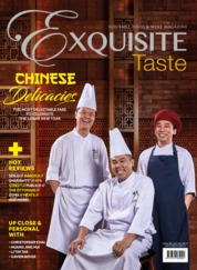EXQUISITE TASTE Magazine Cover February–March 2018