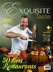 EXQUISITE TASTE Magazine Cover April–May 2018