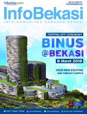 InfoBekasi Magazine Cover March 2018