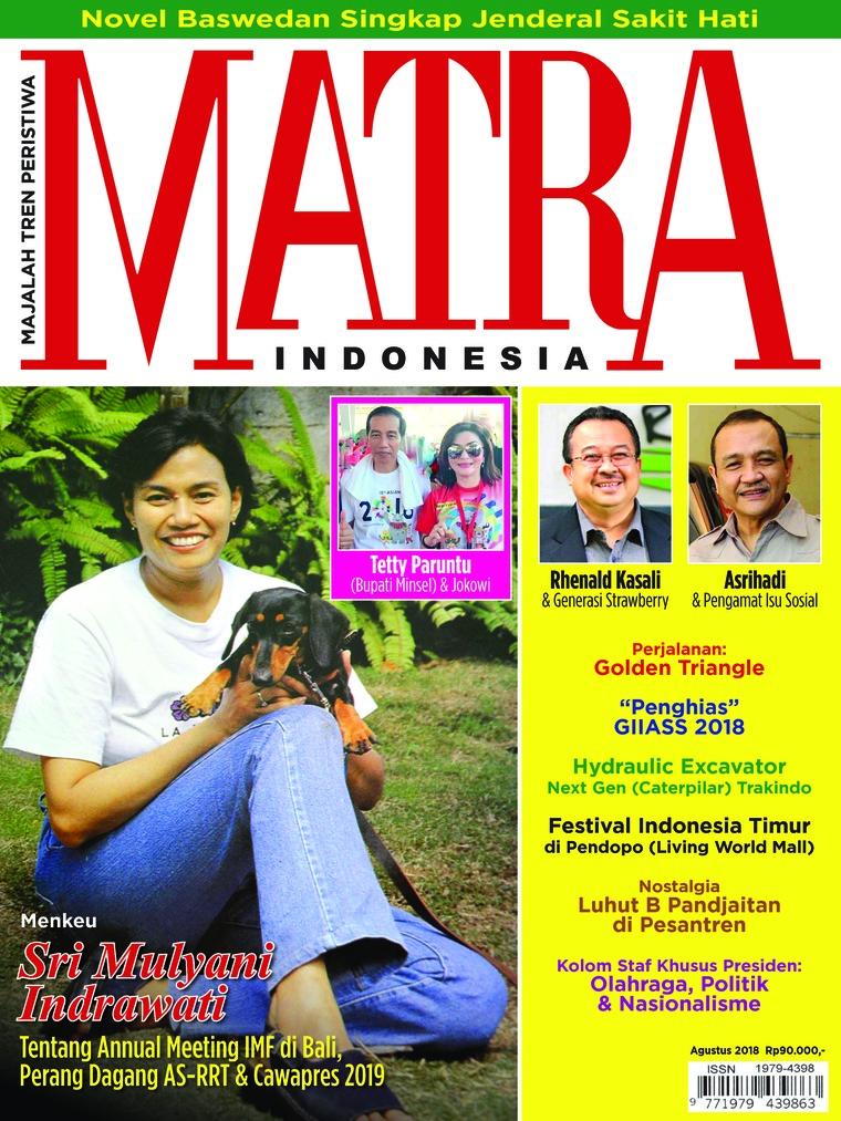 Majalah Digital MATRA INDONESIA Agustus 2018