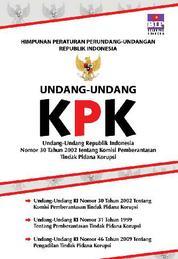 Cover Undang-Undang RI NO.30 Tahun 2002 Tentang KPK oleh