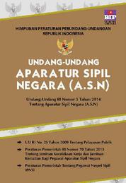 Cover Undang-Undang Aparatur Sipil Negara oleh