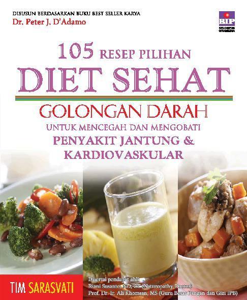 Jual Buku 105 Resep Pilihan Diet Sehat Golongan Darah