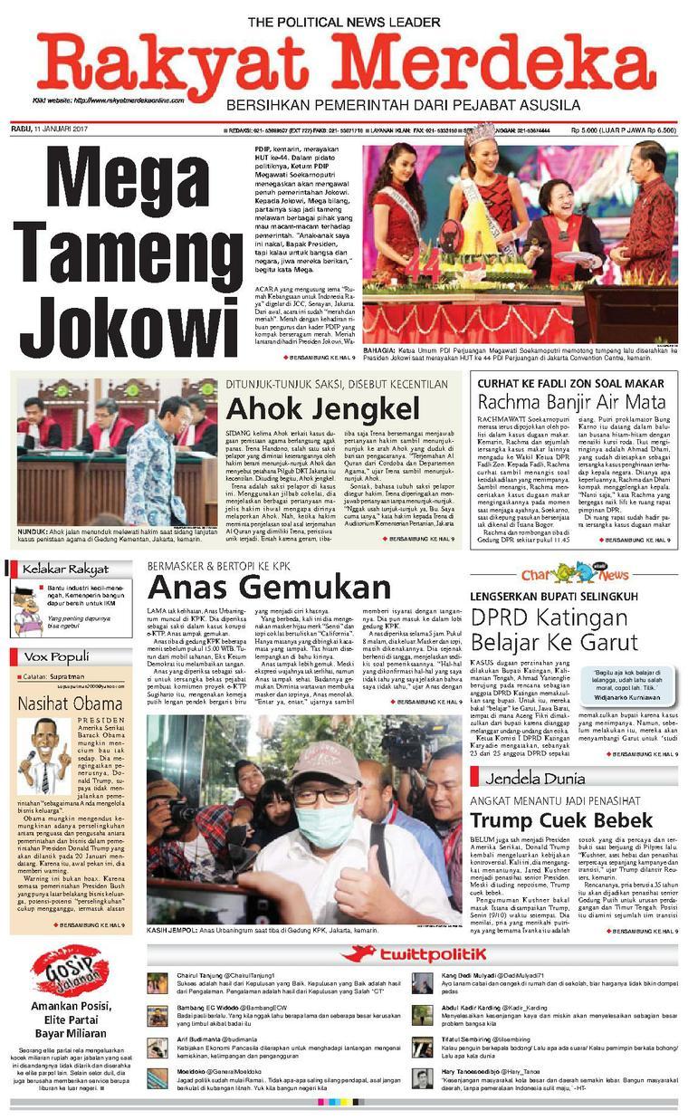 Koran Digital Rakyat Merdeka 11 Januari 2017