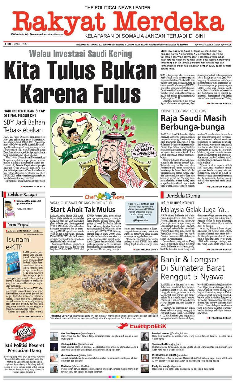 Koran Digital Rakyat Merdeka 06 Maret 2017