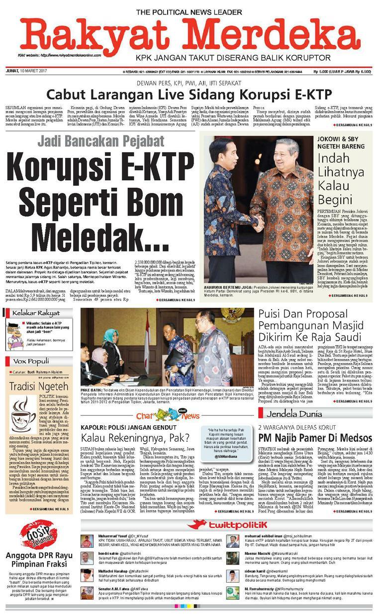 Koran Digital Rakyat Merdeka 10 Maret 2017