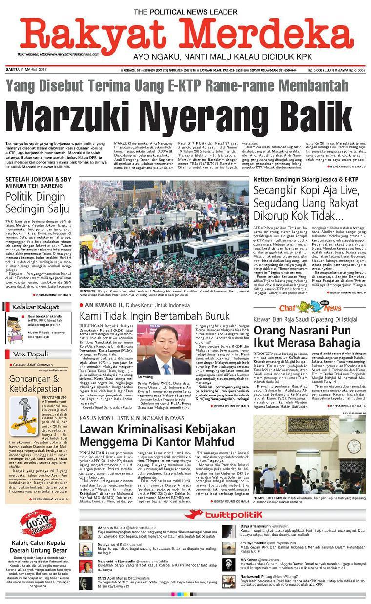 Koran Digital Rakyat Merdeka 11 Maret 2017