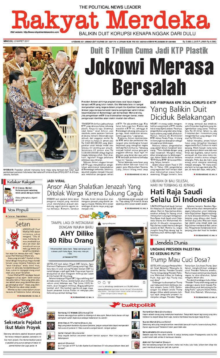 Koran Digital Rakyat Merdeka 12 Maret 2017