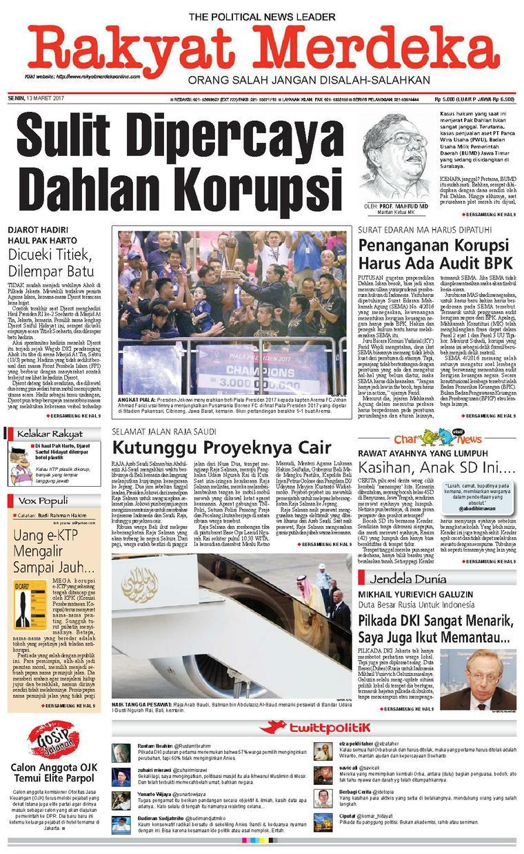 Koran Digital Rakyat Merdeka 13 Maret 2017