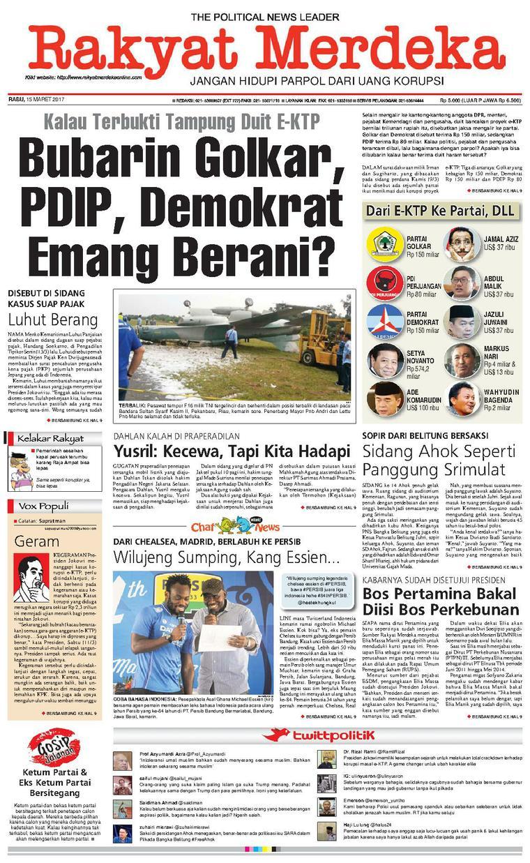 Koran Digital Rakyat Merdeka 15 Maret 2017