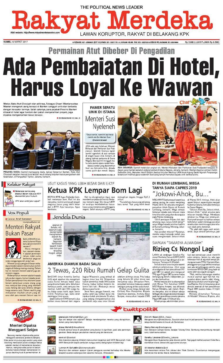Koran Digital Rakyat Merdeka 16 Maret 2017