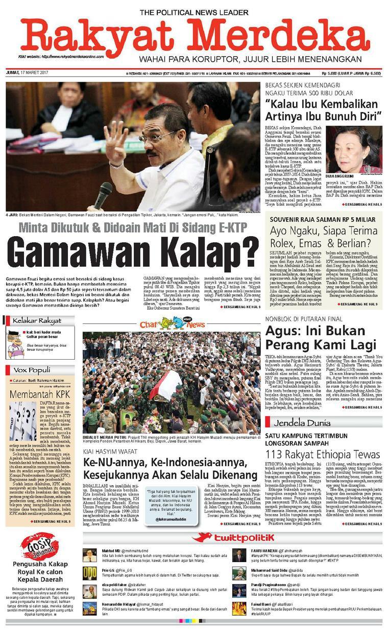 Koran Digital Rakyat Merdeka 17 Maret 2017