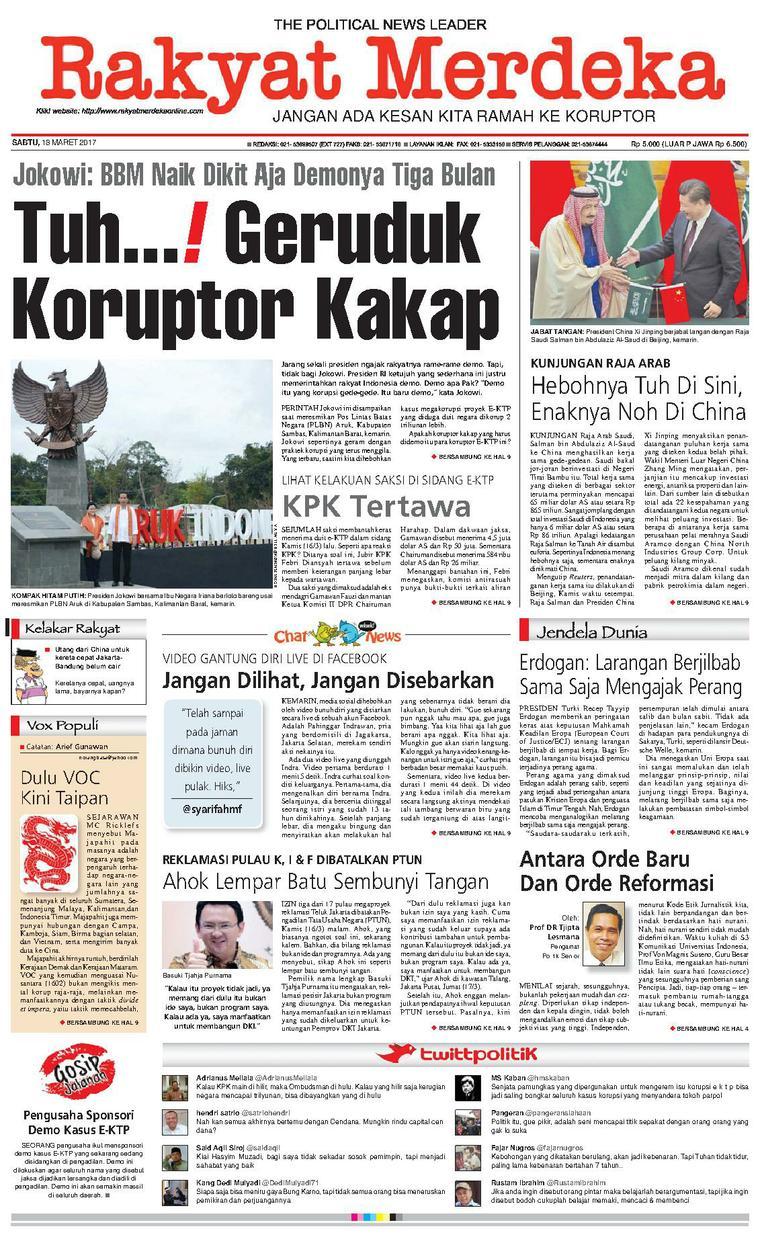 Koran Digital Rakyat Merdeka 18 Maret 2017