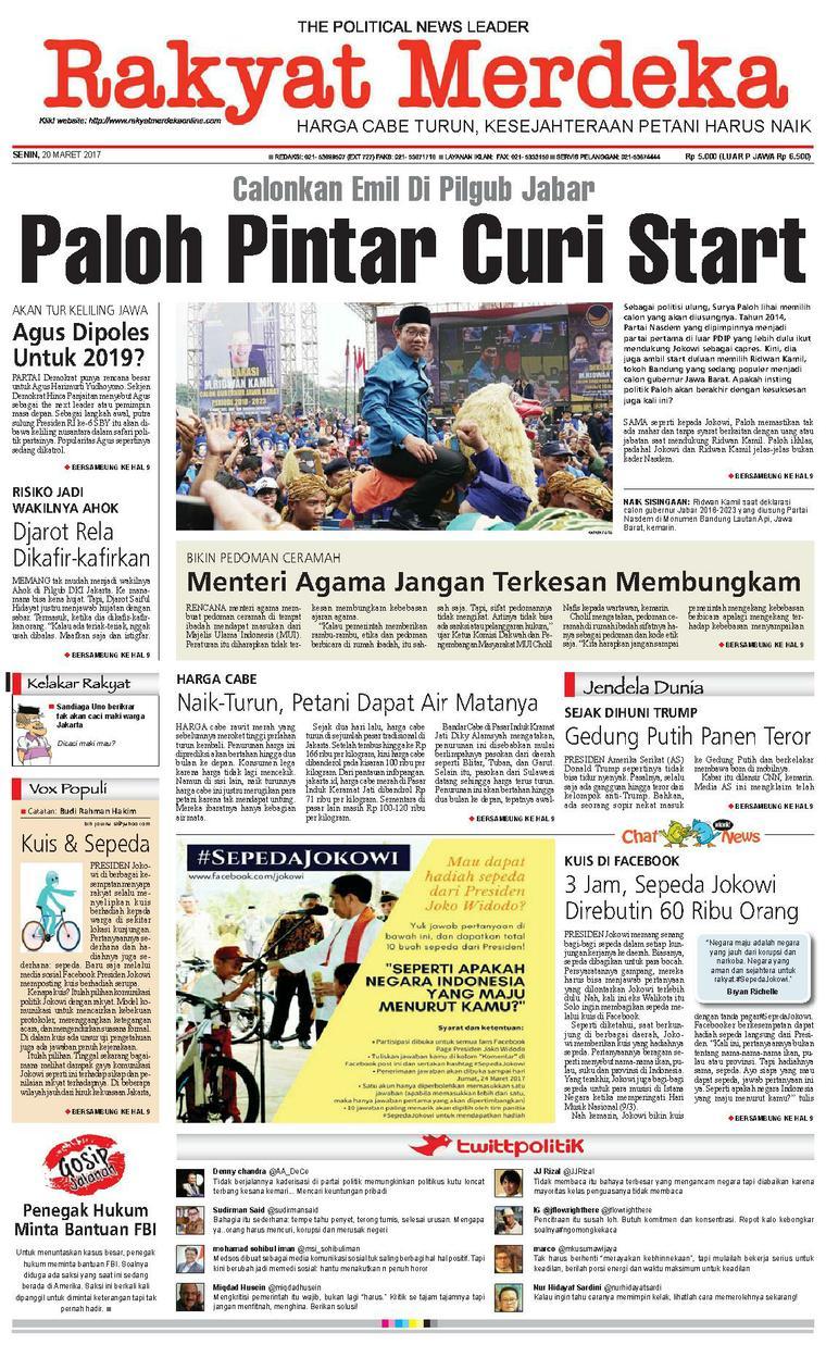 Koran Digital Rakyat Merdeka 20 Maret 2017