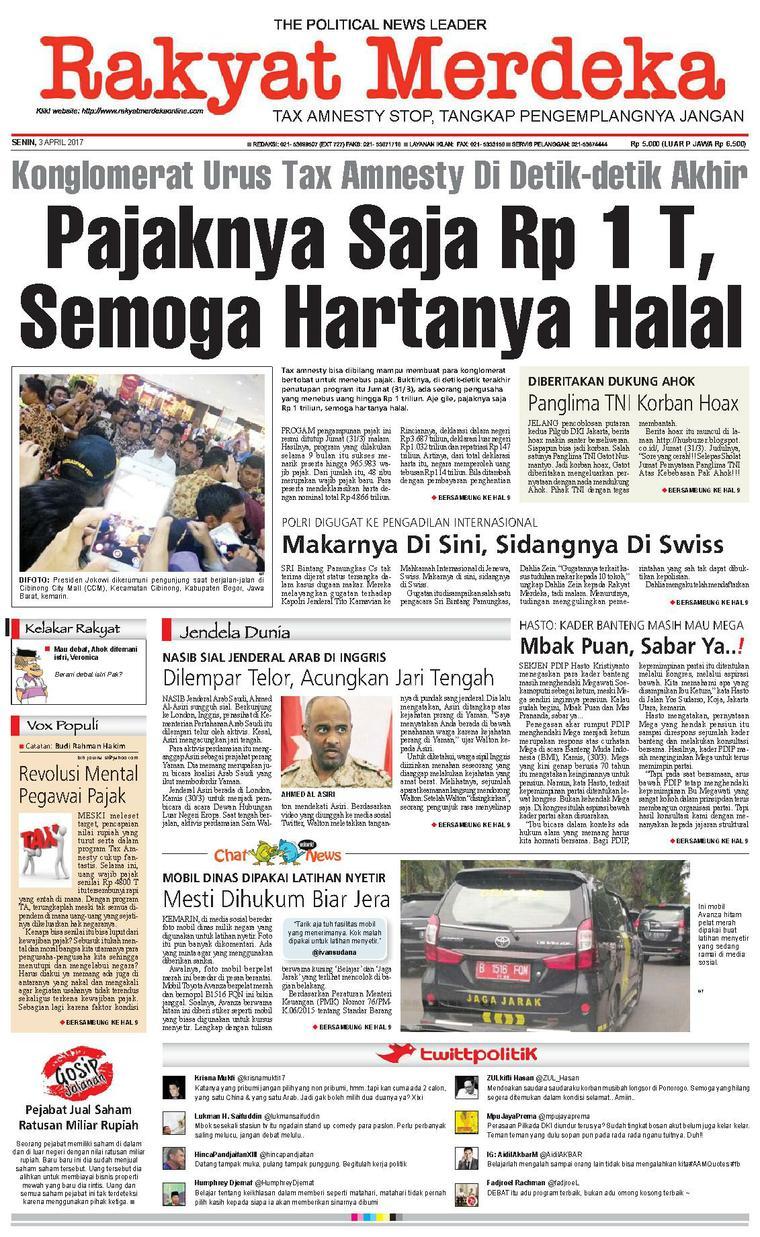 Koran Digital Rakyat Merdeka 03 April 2017