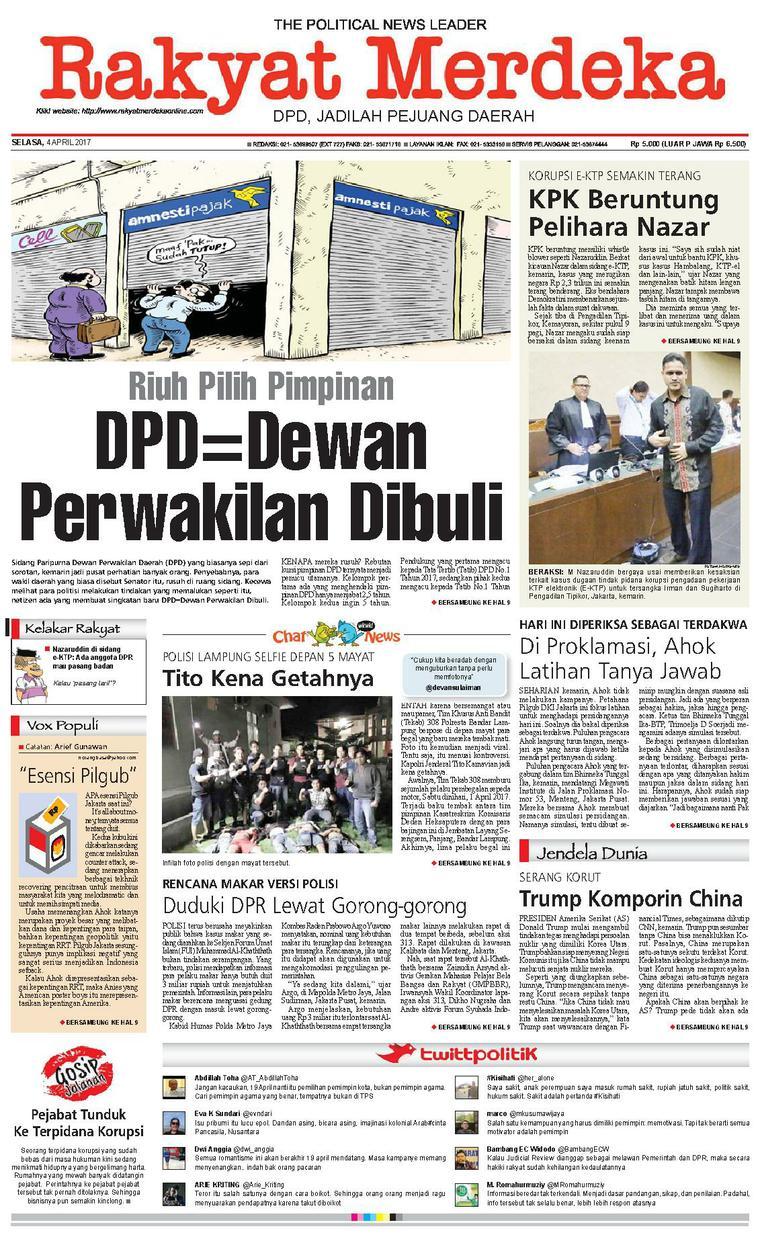 Koran Digital Rakyat Merdeka 04 April 2017