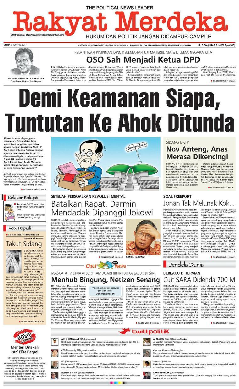 Koran Digital Rakyat Merdeka 07 April 2017