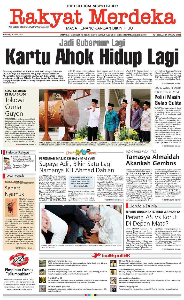 Koran Digital Rakyat Merdeka 16 April 2017