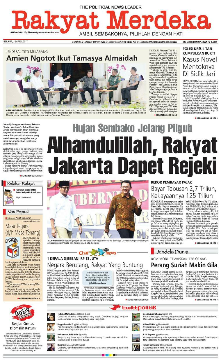Koran Digital Rakyat Merdeka 18 April 2017