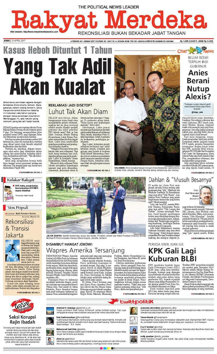 Koran Digital Rakyat Merdeka 21 April 2017