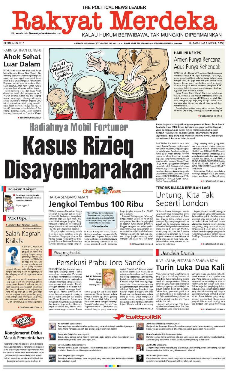 Koran Digital Rakyat Merdeka 05 Juni 2017