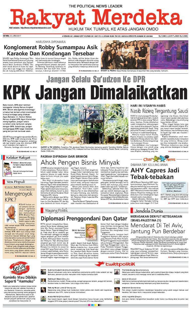 Koran Digital Rakyat Merdeka 12 Juni 2017