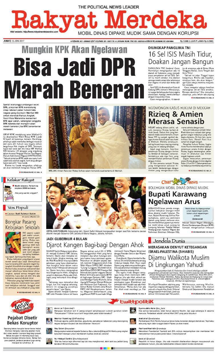 Koran Digital Rakyat Merdeka 16 Juni 2017