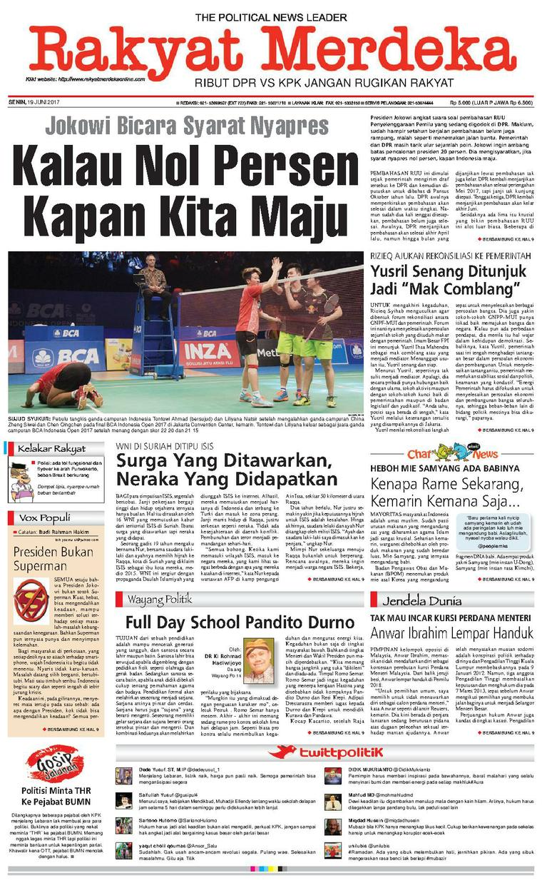 Koran Digital Rakyat Merdeka 19 Juni 2017