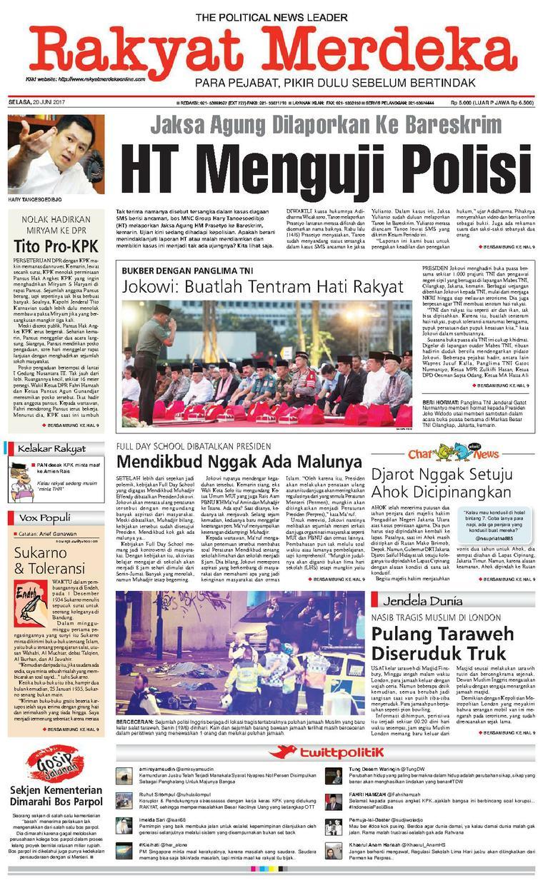 Koran Digital Rakyat Merdeka 20 Juni 2017