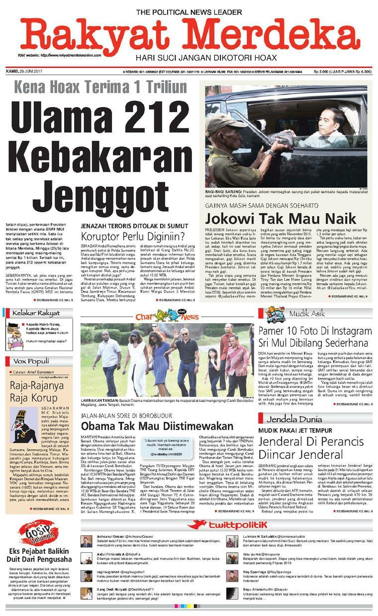 Koran Digital Rakyat Merdeka 29 Juni 2017