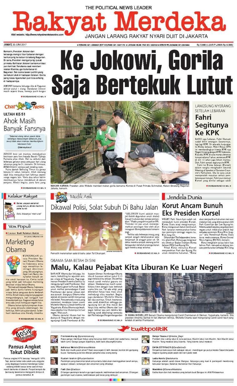 Koran Digital Rakyat Merdeka 30 Juni 2017