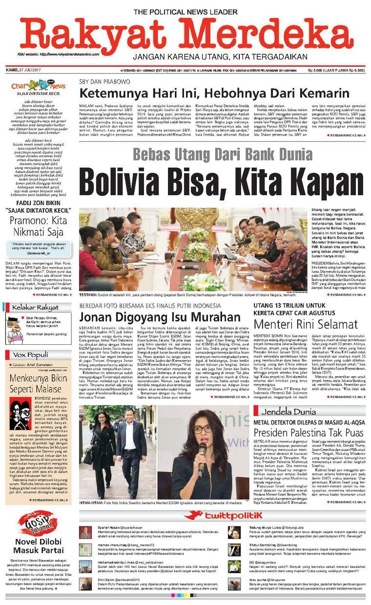 Koran Digital Rakyat Merdeka 27 Juli 2017