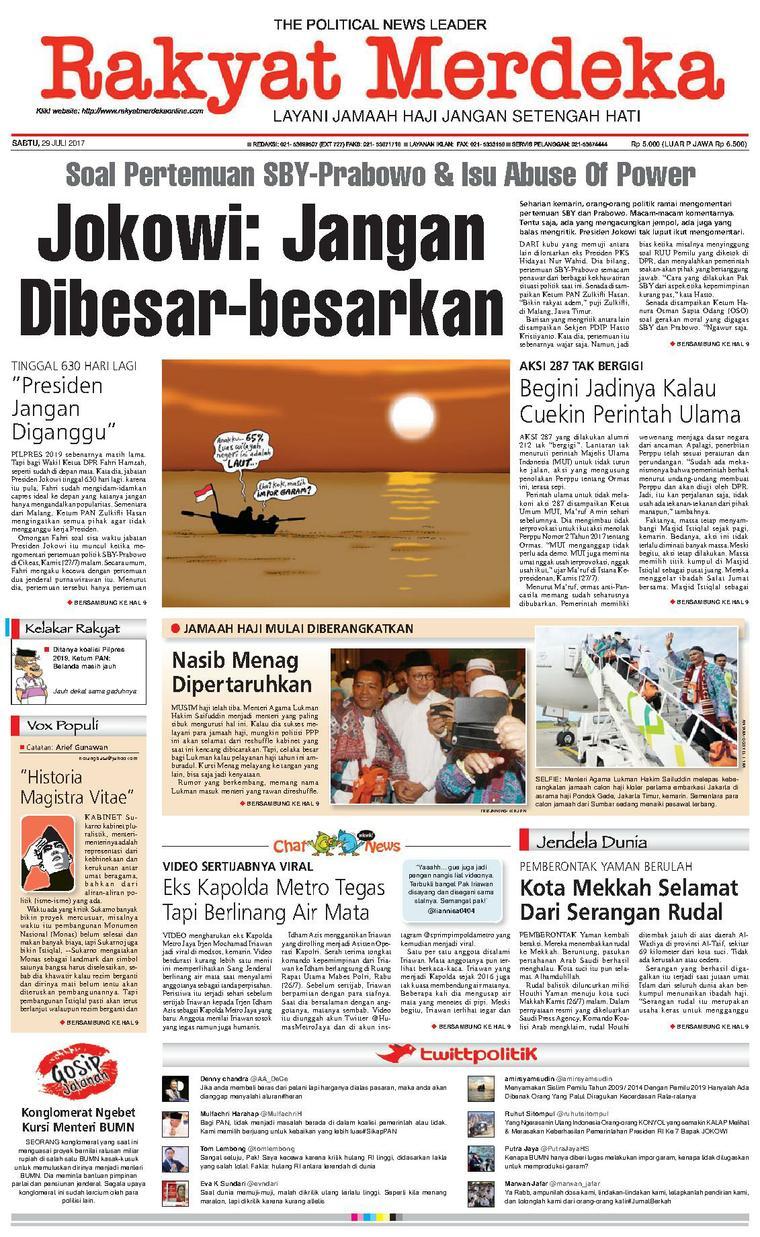 Koran Digital Rakyat Merdeka 29 Juli 2017