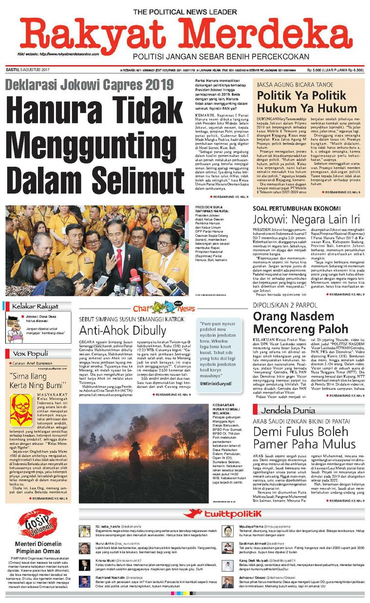 Rakyat Merdeka Digital Newspaper 05 August 2017