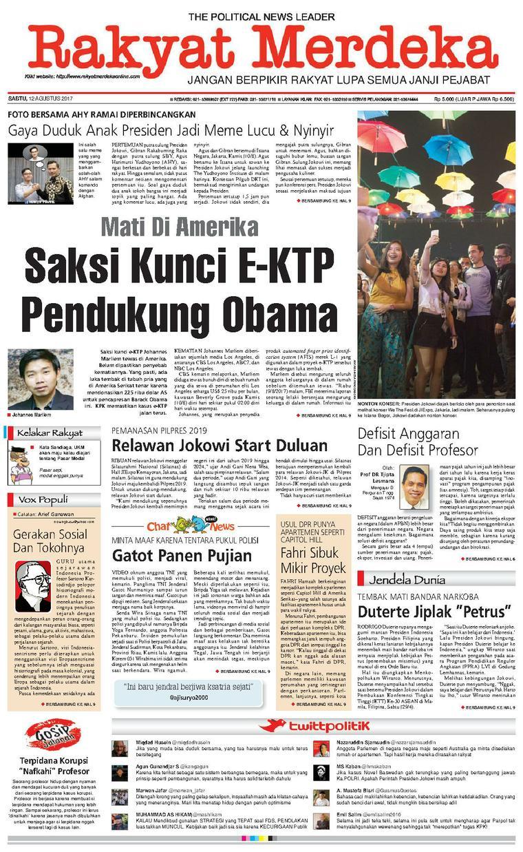 Koran Digital Rakyat Merdeka 12 Agustus 2017