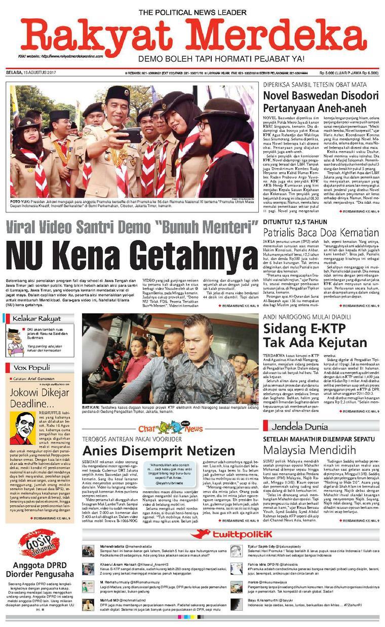 Koran Digital Rakyat Merdeka 15 Agustus 2017