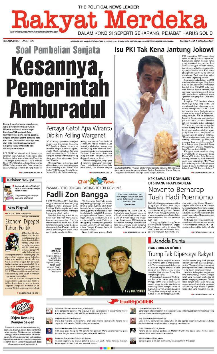 Koran Digital Rakyat Merdeka 26 September 2017
