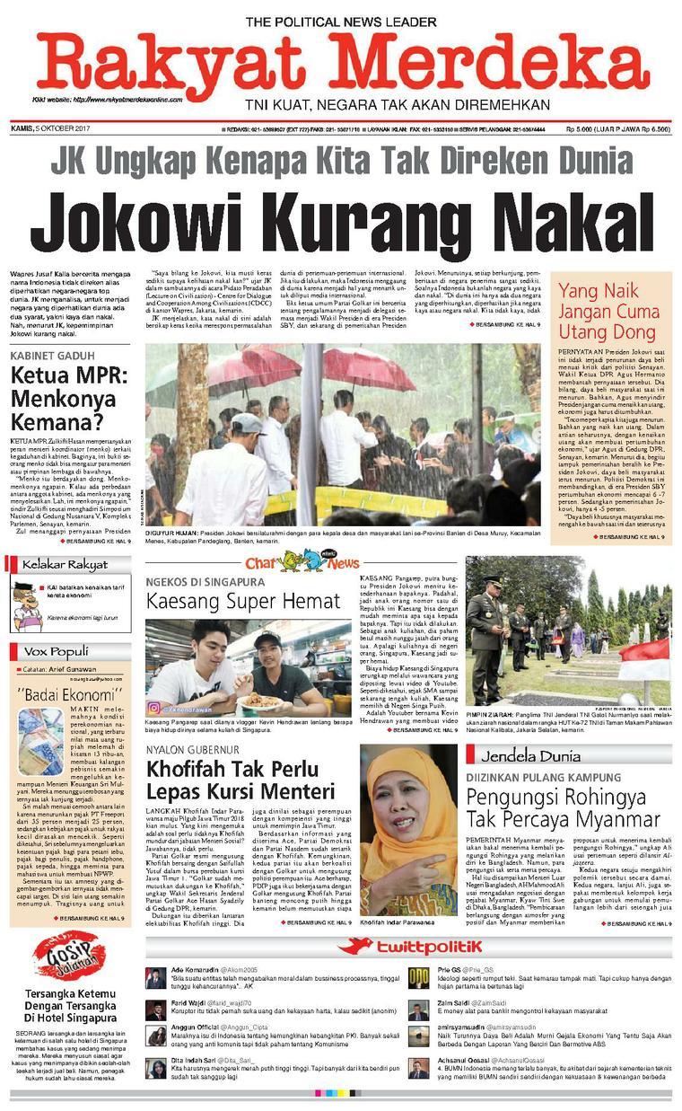 Koran Digital Rakyat Merdeka 05 Oktober 2017