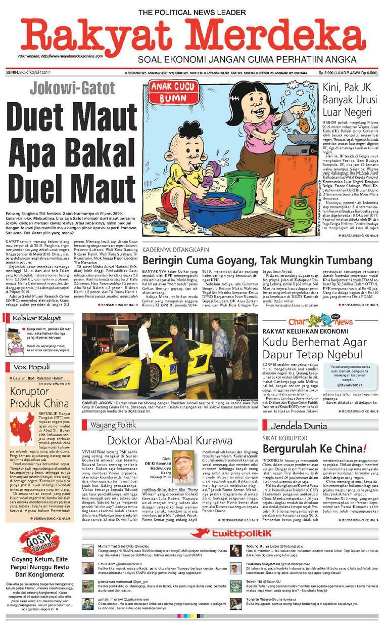 Koran Digital Rakyat Merdeka 09 Oktober 2017