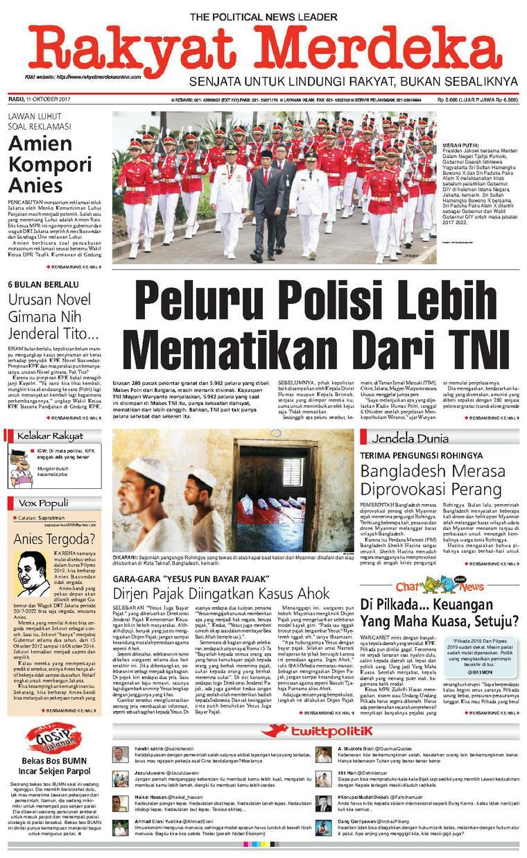 Koran Digital Rakyat Merdeka 11 Oktober 2017