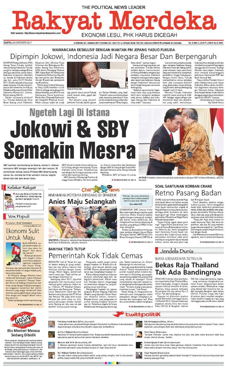 Koran Digital Rakyat Merdeka 28 Oktober 2017