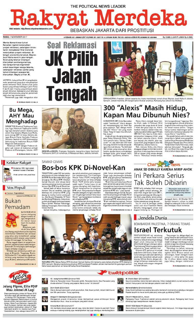 Koran Digital Rakyat Merdeka 01 November 2017