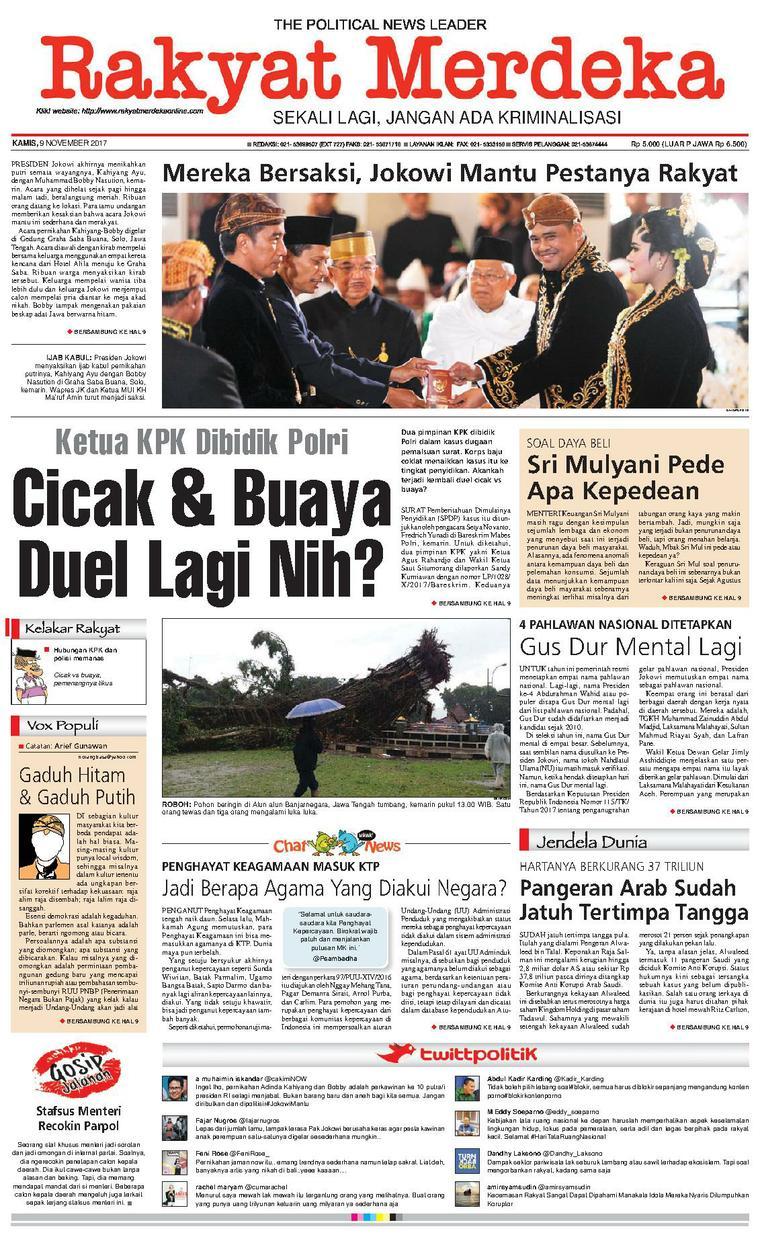 Koran Digital Rakyat Merdeka 09 November 2017
