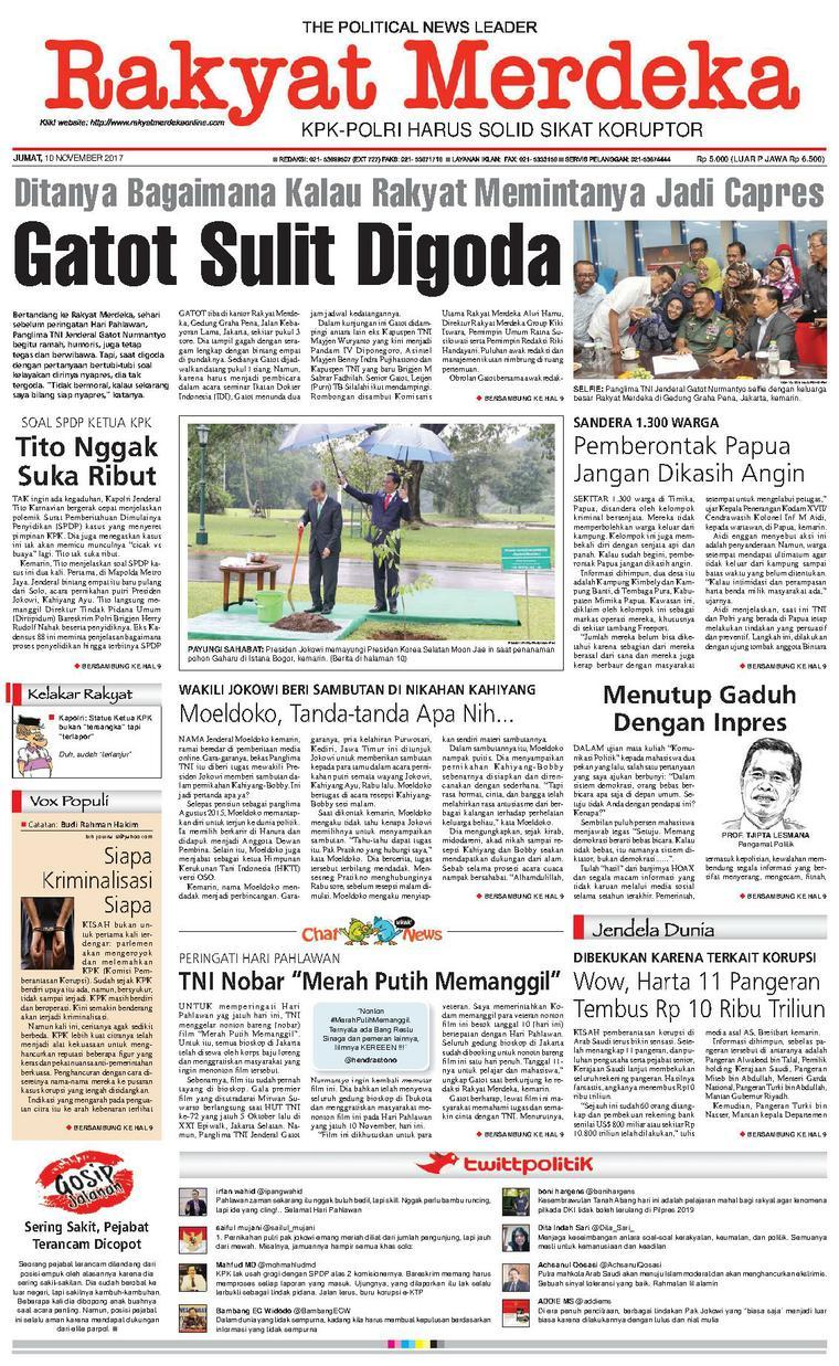 Koran Digital Rakyat Merdeka 10 November 2017