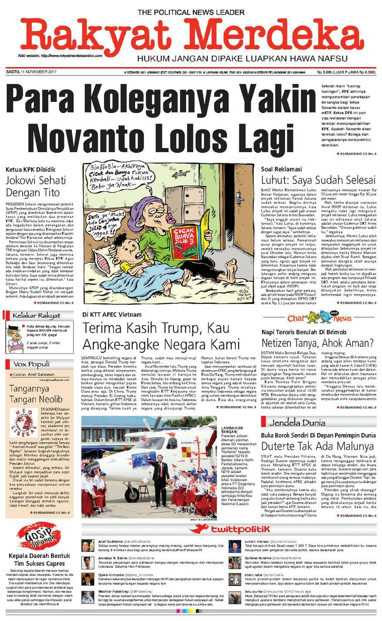 Koran Digital Rakyat Merdeka 11 November 2017
