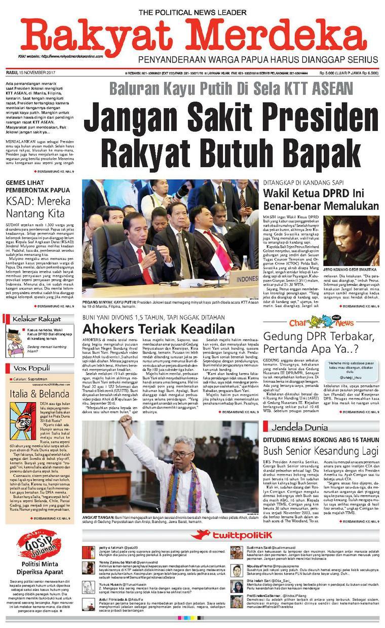 Koran Digital Rakyat Merdeka 15 November 2017