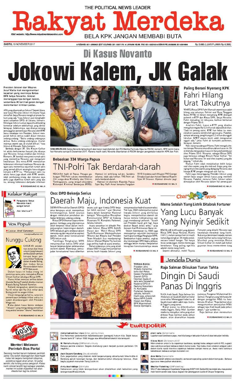 Koran Digital Rakyat Merdeka 18 November 2017