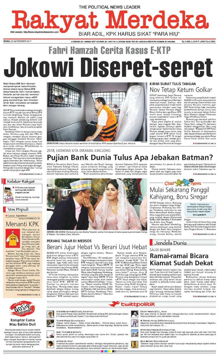 Koran Digital Rakyat Merdeka 22 November 2017