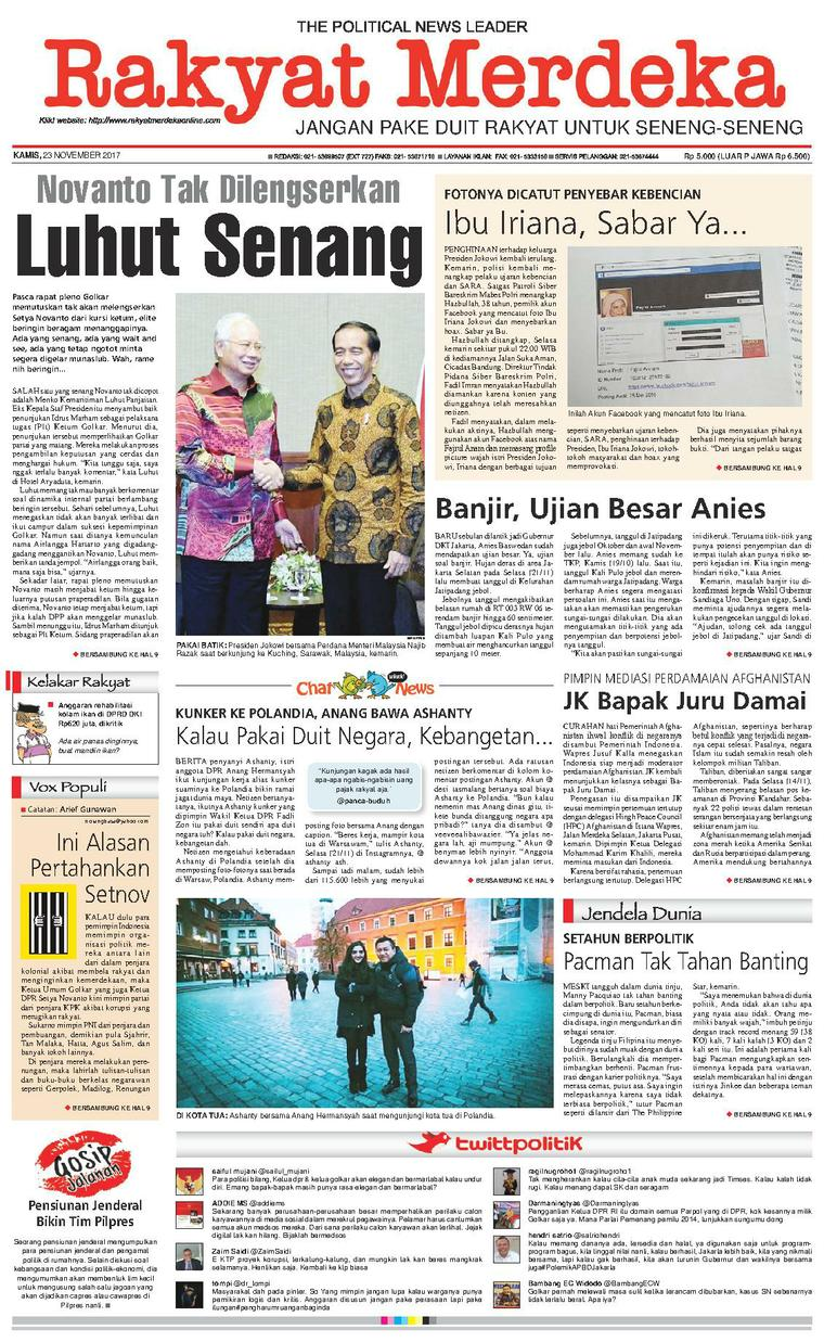 Koran Digital Rakyat Merdeka 23 November 2017